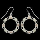 Black Hills Gold Earrings Sterling Silver Hoops Hook