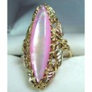 Black Hills Gold Ring Ladies Pink Mother Of Pearl