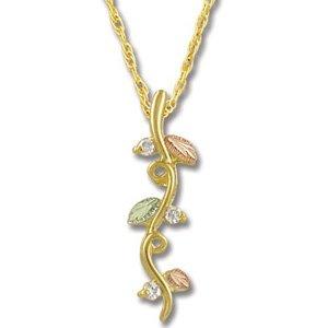 Black Hills Gold Vines Diamond Pendant / Necklace