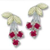 Black Hills Gold Bunch Of Cherries Silver Earrings