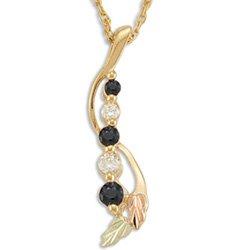 Black Hills Gold JOURNEY Sapphire & Cubic Zirconia Necklace