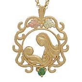 Black Hills Gold Necklace Mother's Love 1 Genuine Birthstone All Months