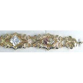 Black Hills Gold Bracelet Clear Cubic Zirconia Link