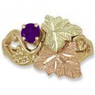 Black Hills Gold Genuine Amethyst Ladies Ring