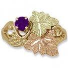 Black Hills Gold Genuine Amethyst Ladies Ring