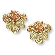Black Hills Gold Rosebud & Grapes Petite Post Earrings