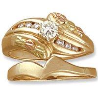 Black Hills Gold Diamond Wedding Set .32 TDW