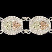 """Black Hills Gold Bracelet Sterling Silver Medallion 7 1/2"""""""