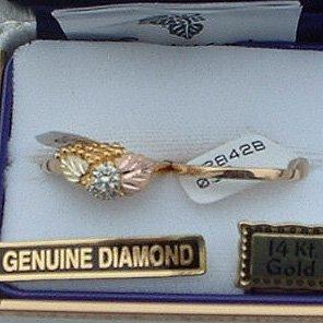 Black Hills Gold Diamond Ladies Wedding Ring Set .31 TDW