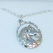 Black Hills Gold Necklace Leaves On Sterling Silver Horse