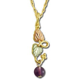 Black Hills Gold Amethyst Bead Necklace