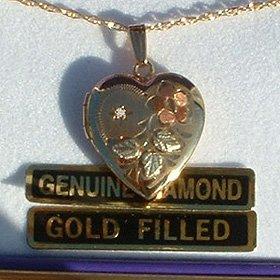 Black Hills Gold Diamond Locket Necklace