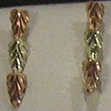 Black Hills Gold 3 Tiered Leaves Leverback Earrings
