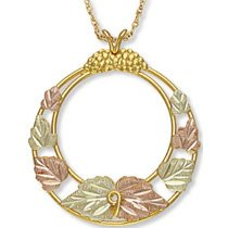 Black Hills Gold Round 7 Leaves Necklace