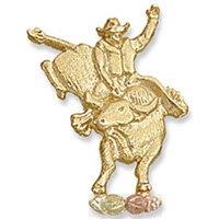 Black Hills Gold Bull Rider Tie Tack