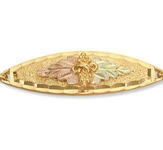 Black Hills Gold Leaves & Grapes Chain Bracelet