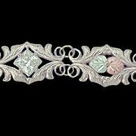 "Black Hills Gold Bracelet Clear CZ Sterling Silver 7"" Long"
