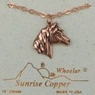 Sunrise Copper Necklace Horse Pendant