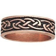 Copper Ring Band Celtic Design Unisex Antiqued
