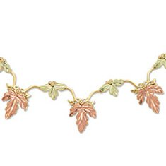 Black Hills Gold Adjustable Necklace & Fob Stunning