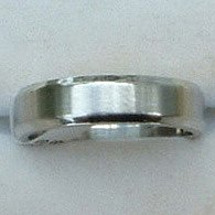 """Stainless Steel Ring Band 3/16"""" Unisex Edged"""