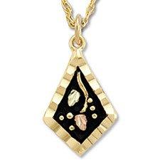 Black Hills Gold Antiqued Quadrangle Necklace