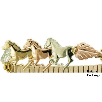 Black Hills Gold Running Horses Bracelet Expand Band