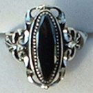 "Large Faceted Hematite Ring Ladies Sterling Silver 3/4"" Wide"