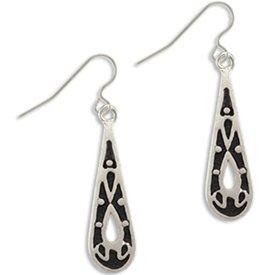 Teardrop Silver Earrings Landstrom's Black Hills Gold