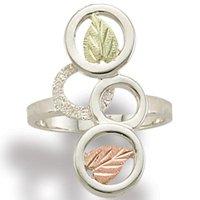Black Hills Gold Eternal Circles Silver Ladies Ring