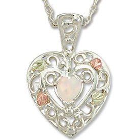 Black Hills Gold LC Opal Sterling Silver Necklace