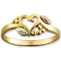 Black Hills Gold Heart Of Vines Ladies Ring