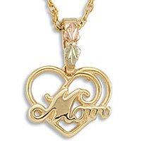 Black Hills Gold MOM Heart Necklace