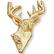 Black Hills Gold Full Rack Deer Buck Tie Tack