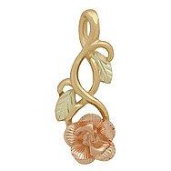 Black Hills Gold Necklace Rose & 10K Vines Pretty