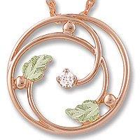 Black Hills Gold Pink Circle .05 Diamond Necklace