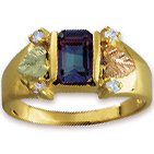 Black Hills Gold Sapphire & Diamond Ladies Ring Other Stones Available