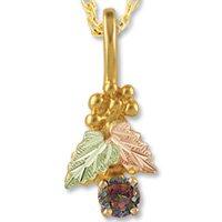 Black Hills Gold Round Mystic Fire Topaz Necklace