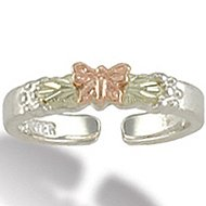 Black Hills Gold Sterling Silver Butterfly Toe Ring