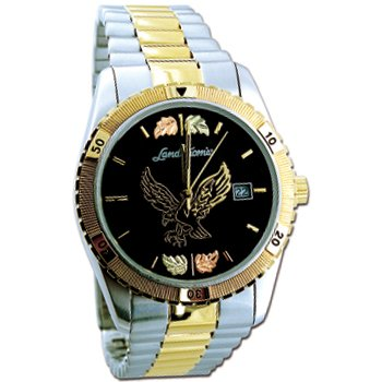 Black Hills Gold Eagle Men's Wrist Watch Sharp
