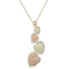 Black Hills Gold Necklace Journey of Hearts Silver
