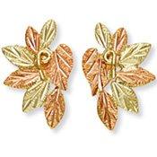 Black Hills Gold 7 Leaves Vines Post Earrings