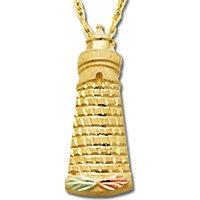 Black Hills Gold Leaves On 10K Lighthouse Necklace