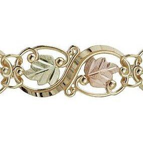 "Black Hills Gold Bracelet Exquisite 7 3/4"" Beautiful!"