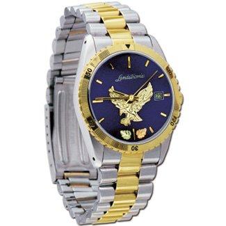 Black Hills Gold Eagle Mens Blue Face Watch