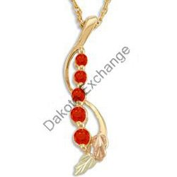 Black Hills Gold Leaves JOURNEY 5 Ruby Necklace