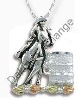 Black Hills Gold Sterling Silver Barrel Racer Necklace