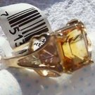 Black Hills Gold Ring Ladies Emerald-Cut Citrine