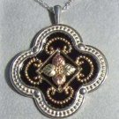 Black Hills Gold Necklace 10K Grape Swirls Silver Antiqued