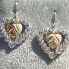 Black Hills Gold Earrings Hearts Encased Heart Silver